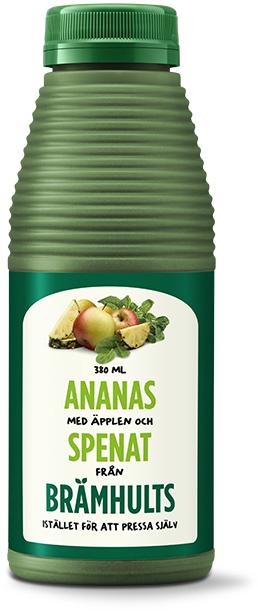 Ananas, äpplen och spenat