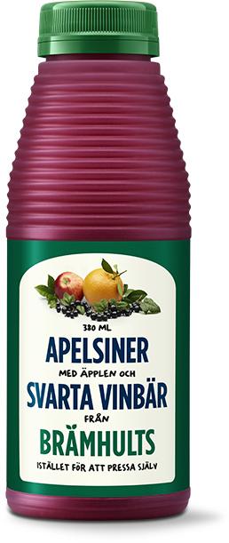 Apelsiner, äpplen och svarta vinbär