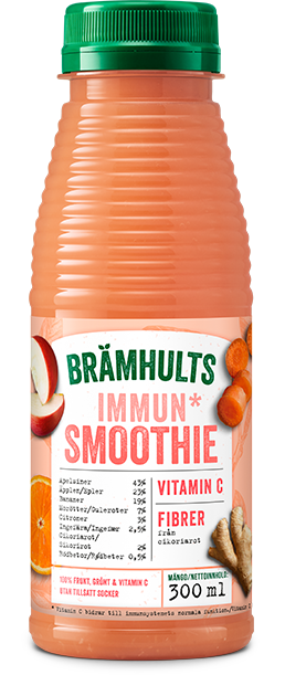 Smoothie Immun med smak av apelsin, morot och ingefära